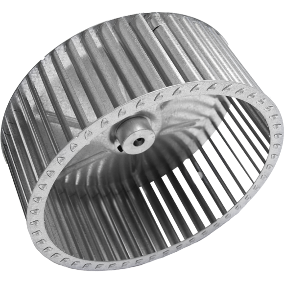 B Series Centrifugal Blower Wheel, angled view