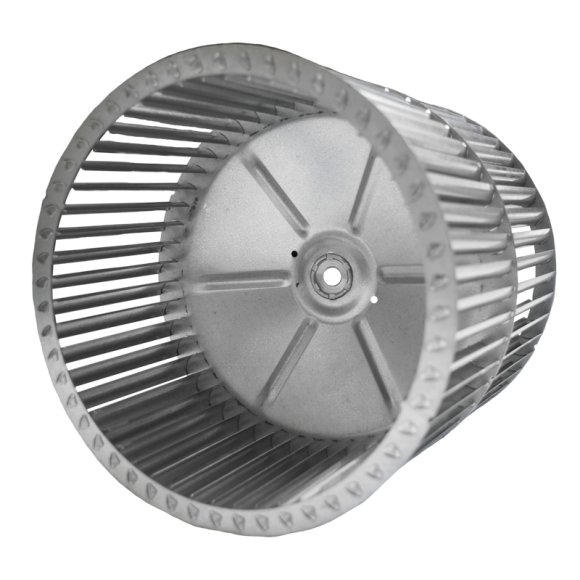C Series Centrifugal Blower Wheel, alternate angled view