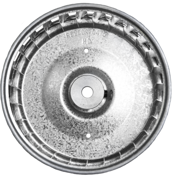 Q Series Centrifugal Blower Wheel, end view