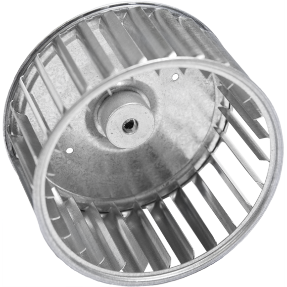 Q Series Centrifugal Blower Wheel, angled view
