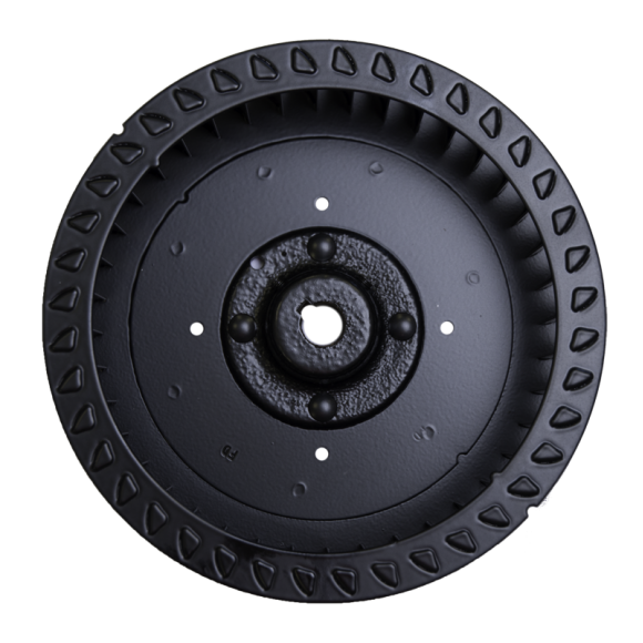 R Series Centrifugal Blower Wheel, end view