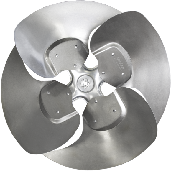 4-blade ZS Series Axial Fan Impeller